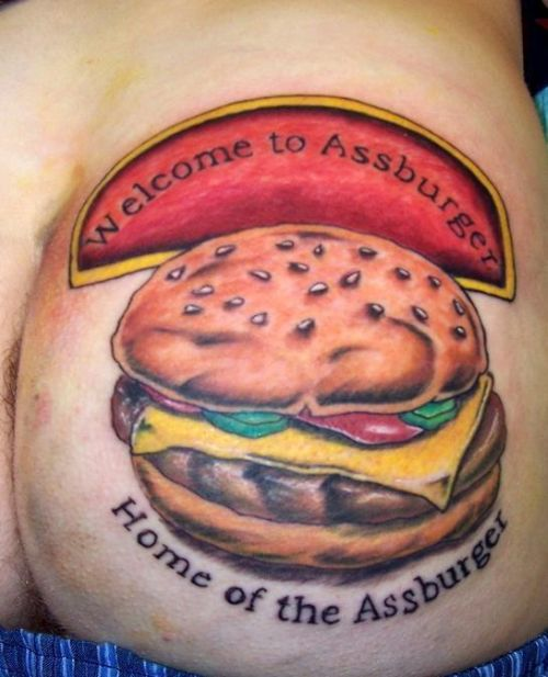 Navegando pelo Siriloko, encontrei essa galeria de tattoos de hamburger.